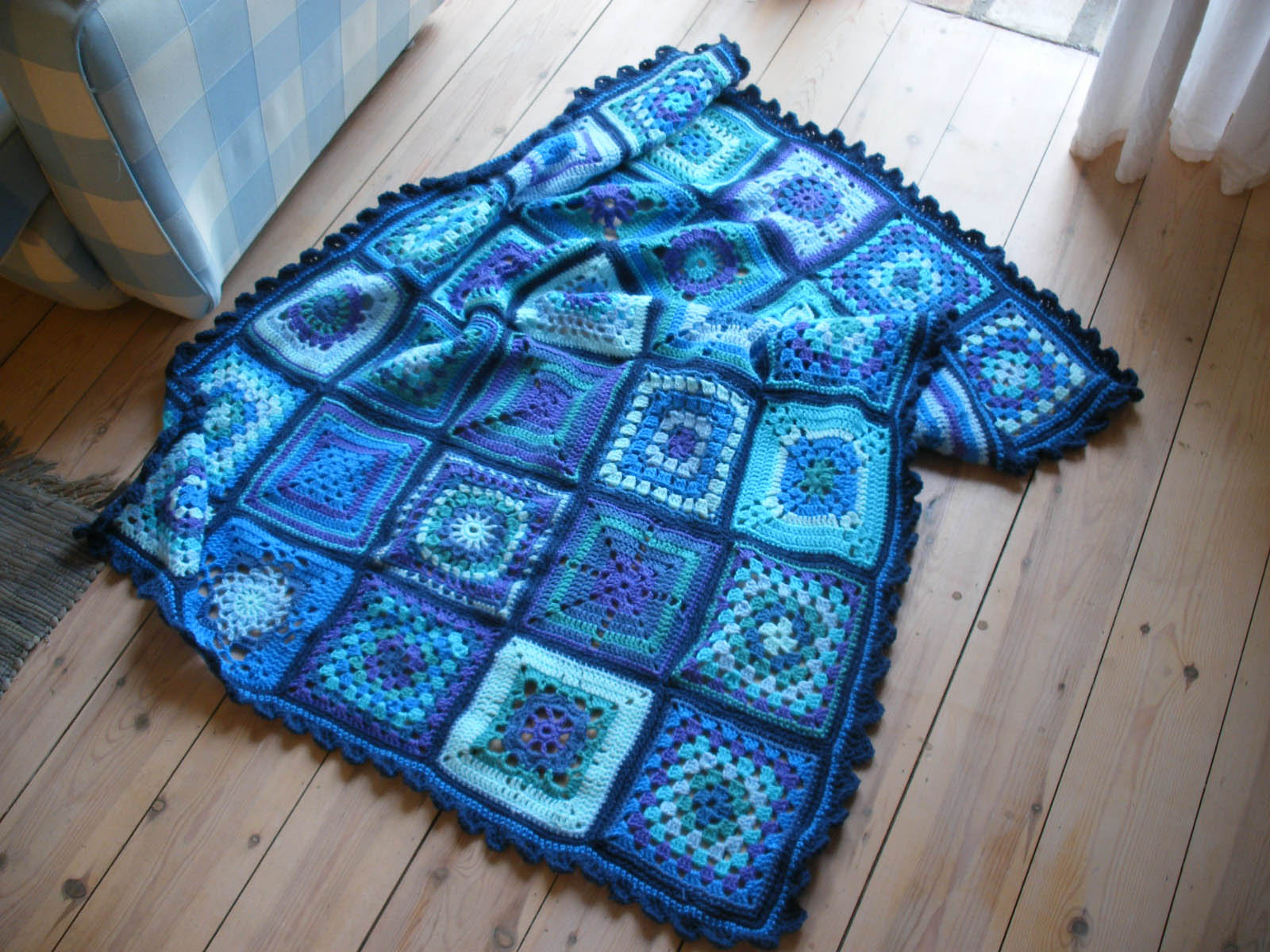 sampler crochet blanket